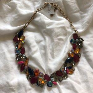 NWT. J.Crew beaded gem bib necklace